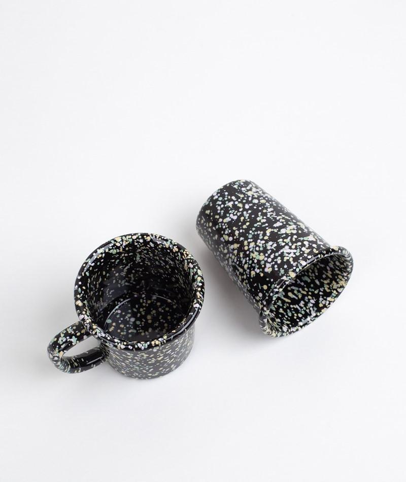HAY Enamel/Cup 0.3 L sprinkle black