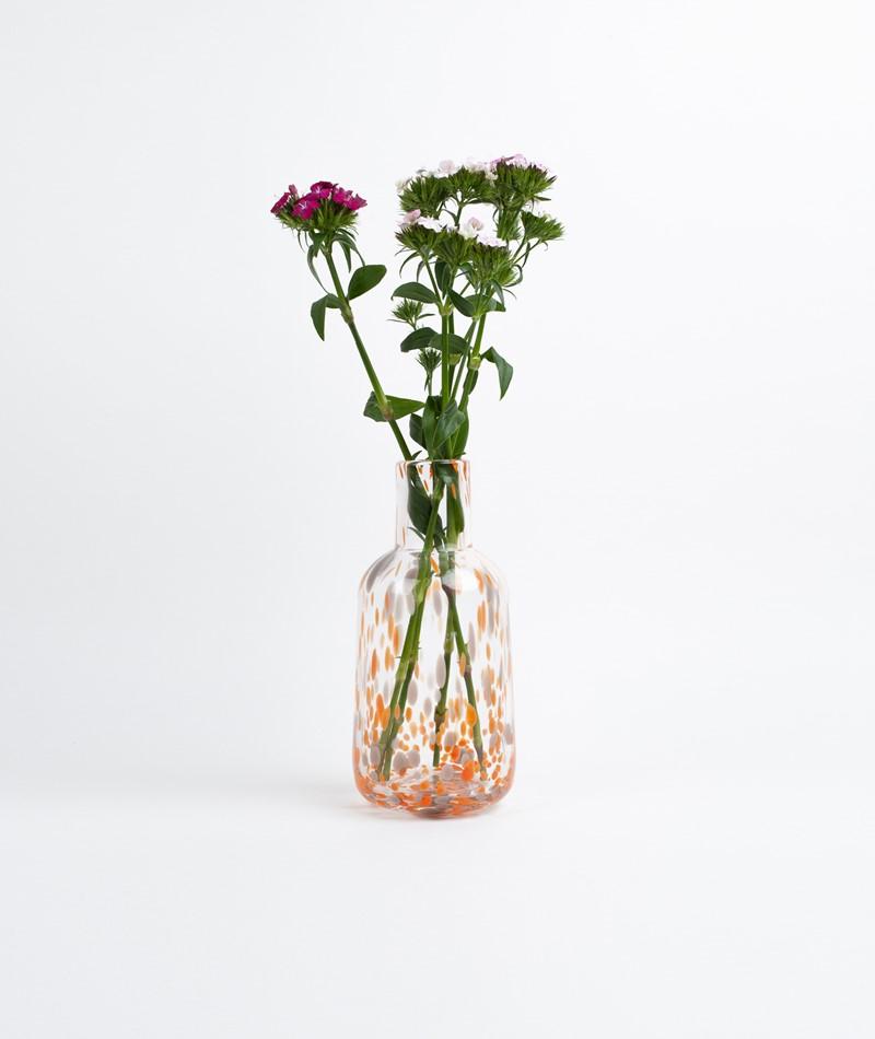 MADAM STOLTZ Dotted glass vase
