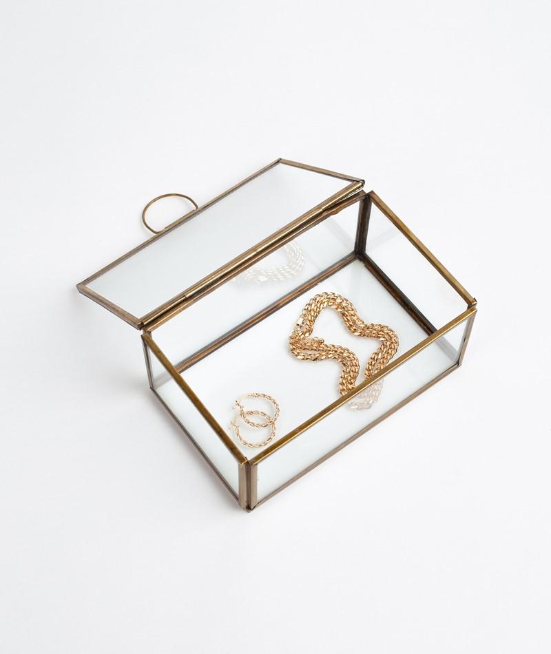 MADAM STOLTZ  Glass Box gold