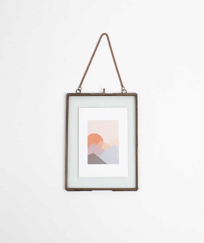 MADAM STOLTZ Hanging Photo Frame gold
