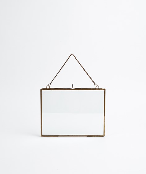 MADAM STOLTZ Hanging Photo Frame gold