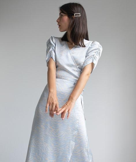 NEO NOIR Aura Distreed Zebra Kleid blau