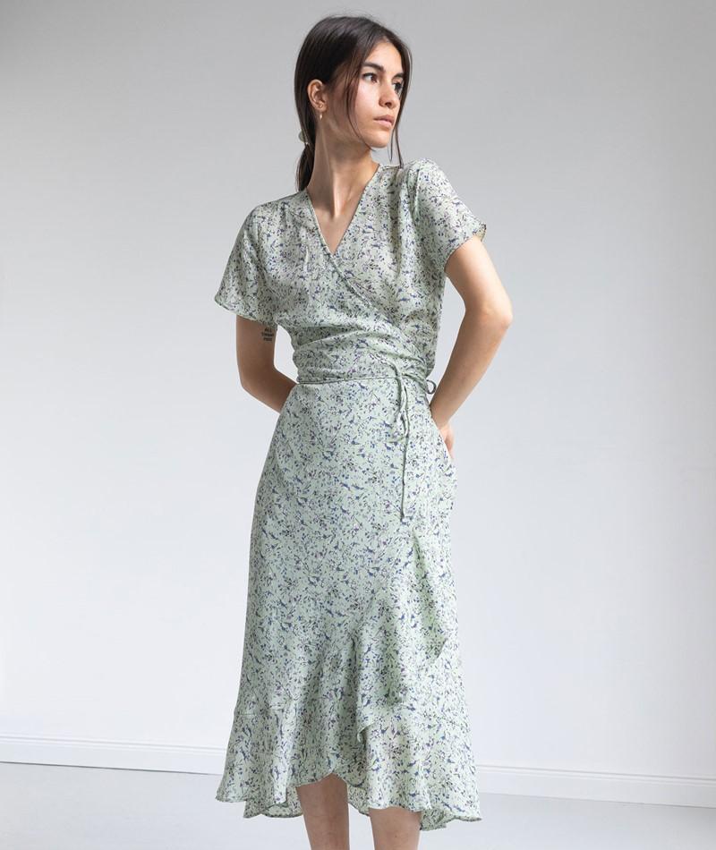 NEO NOIR Magga Abstract Flower Kleid