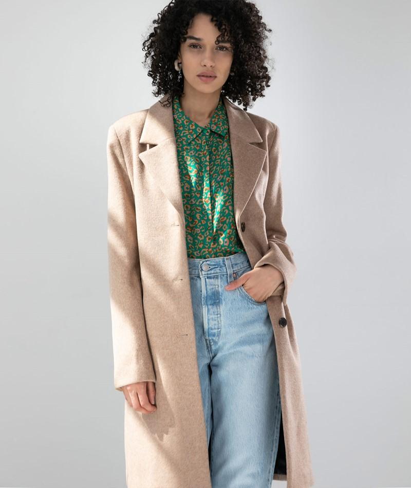 SELECTED FEMME SLFSasja Wool Coat camel