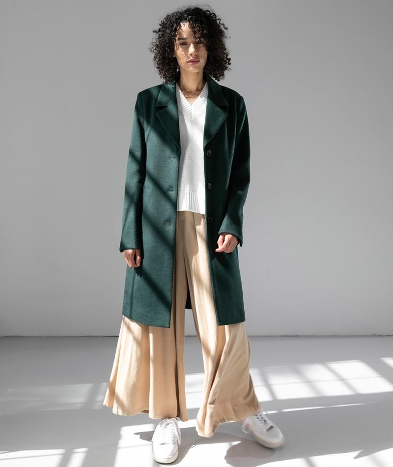 SELECTED FEMME SLFSasja Wool Coat grün