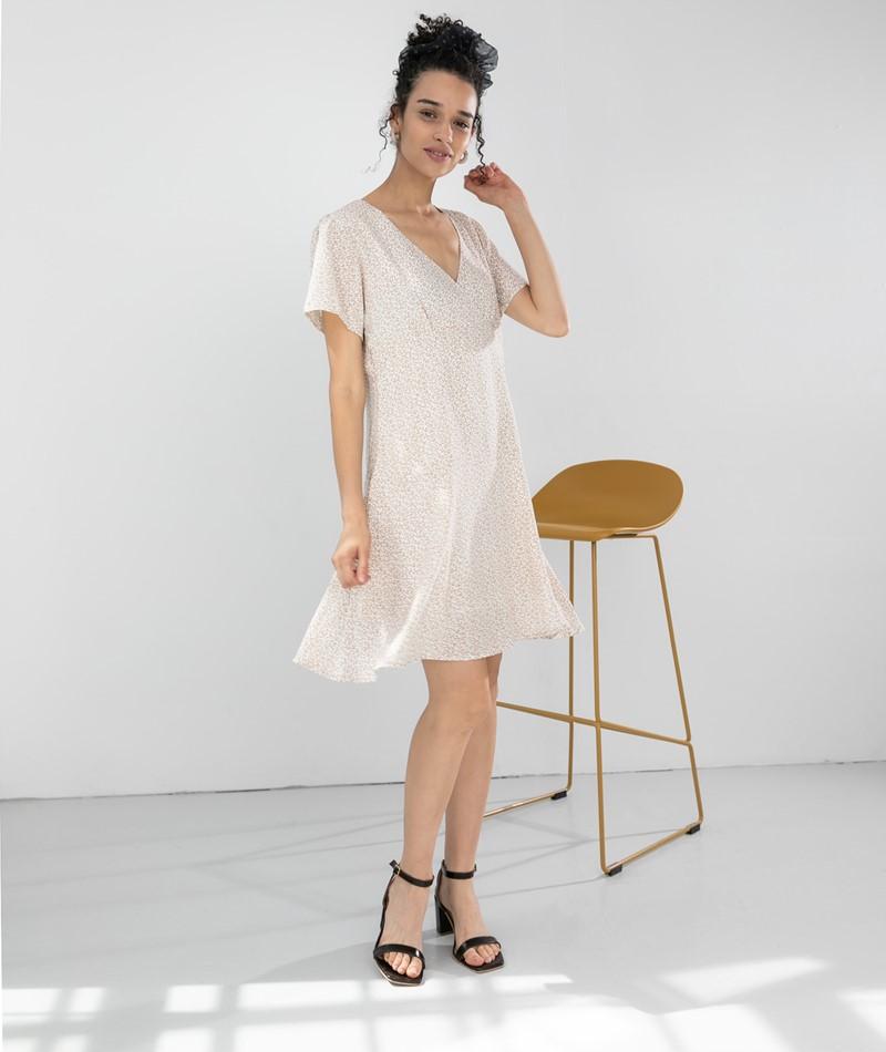 NEO NOIR Dima Mini Tapestry Kleid creme