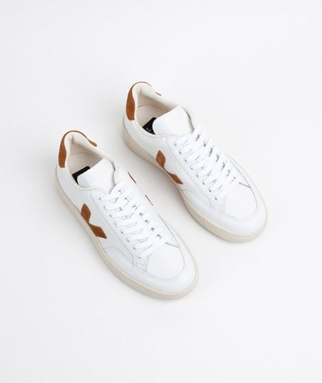 VEJA V-12 Leather Sneaker weiß camel