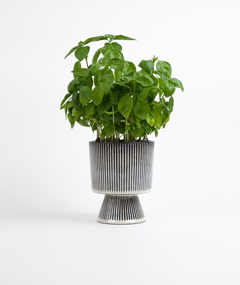 MADAM STOLTZ Striped Flower Pot