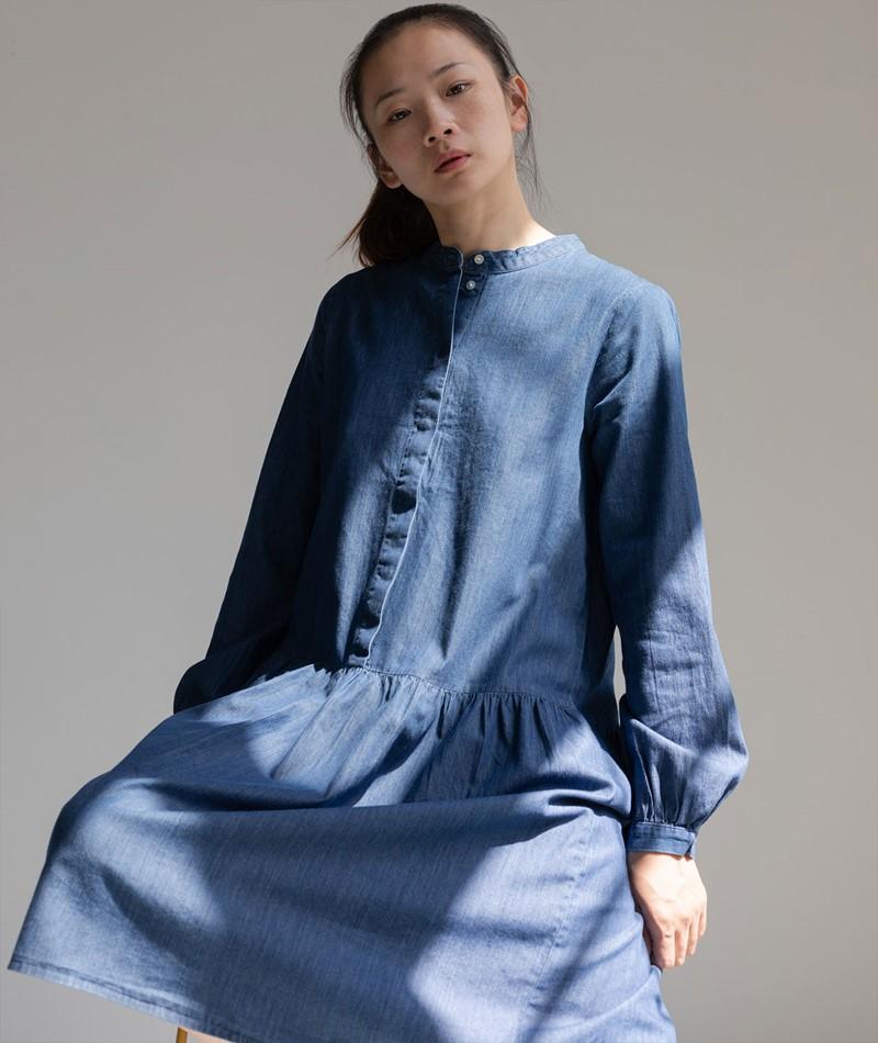 MOSS COPENHAGEN Rida Lyanna Kleid blau