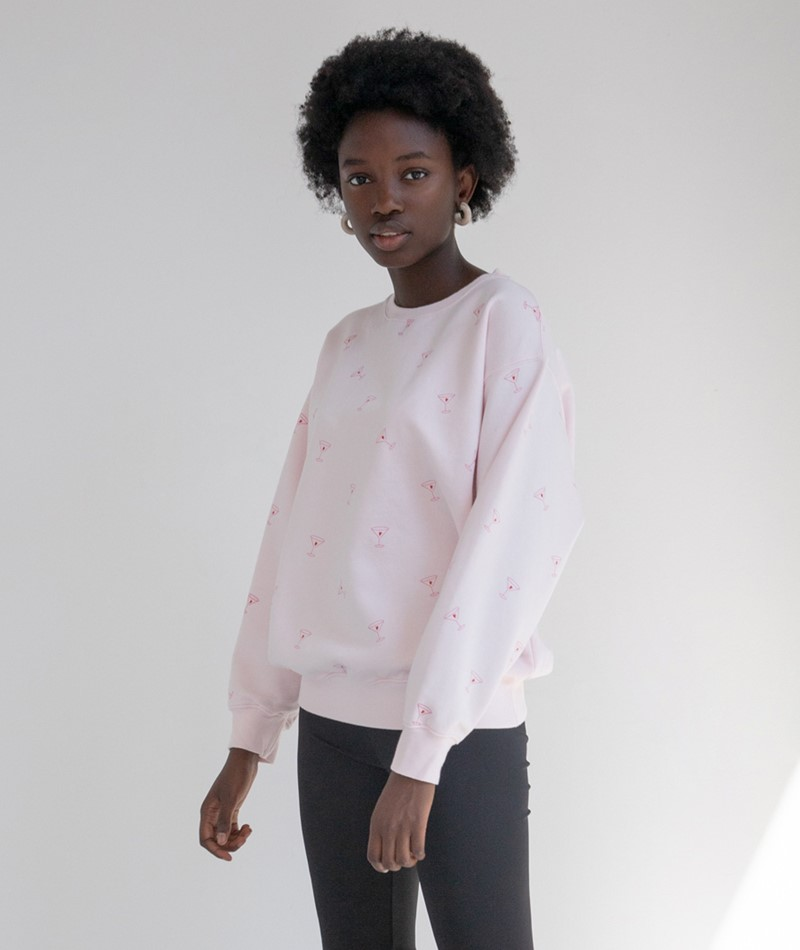 ADIEU CLICHÉ STUDIO Love Drunk Sweater rosa