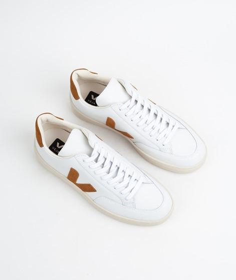 VEJA V-12 Sneaker extra white/camel