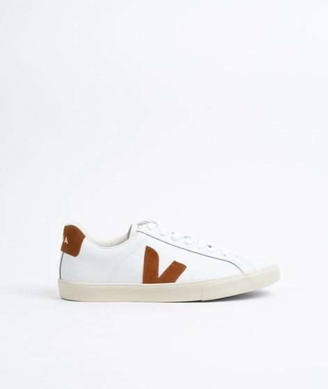VEJA Esplar Logo Sneaker weiß camel