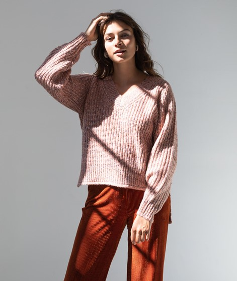 VILA VIFresh V-Neck Strickpullover rosa