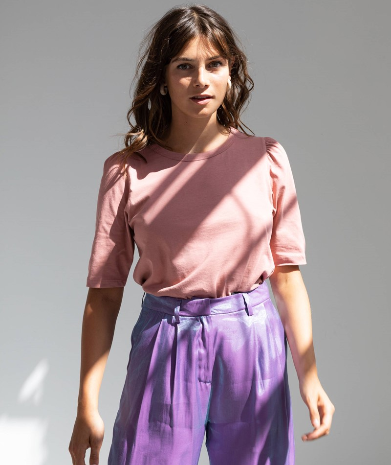 MOSS COPENHAGEN Alva Puff T-Shirt rosa