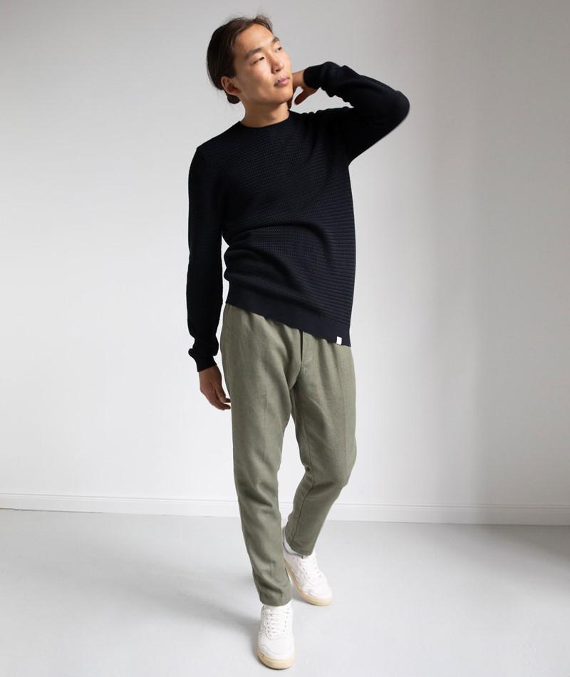NOWADAYS Basket Stich Pullover schwarz