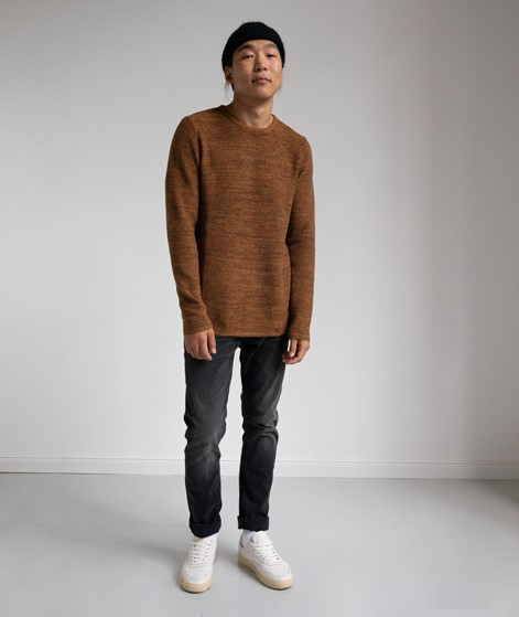 REVOLUTION Multi-Colored Pullover braun