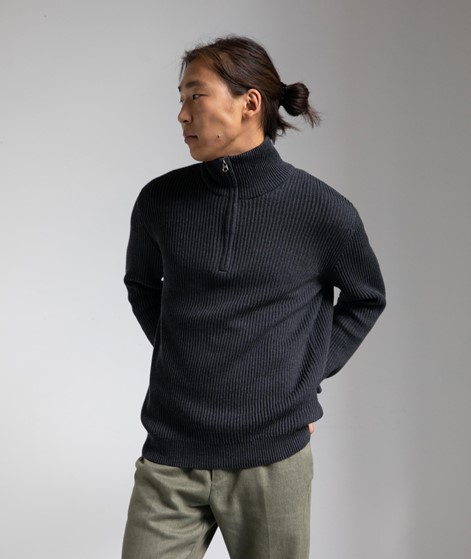 MINIMUM Syvester Pullover dunkelgrau