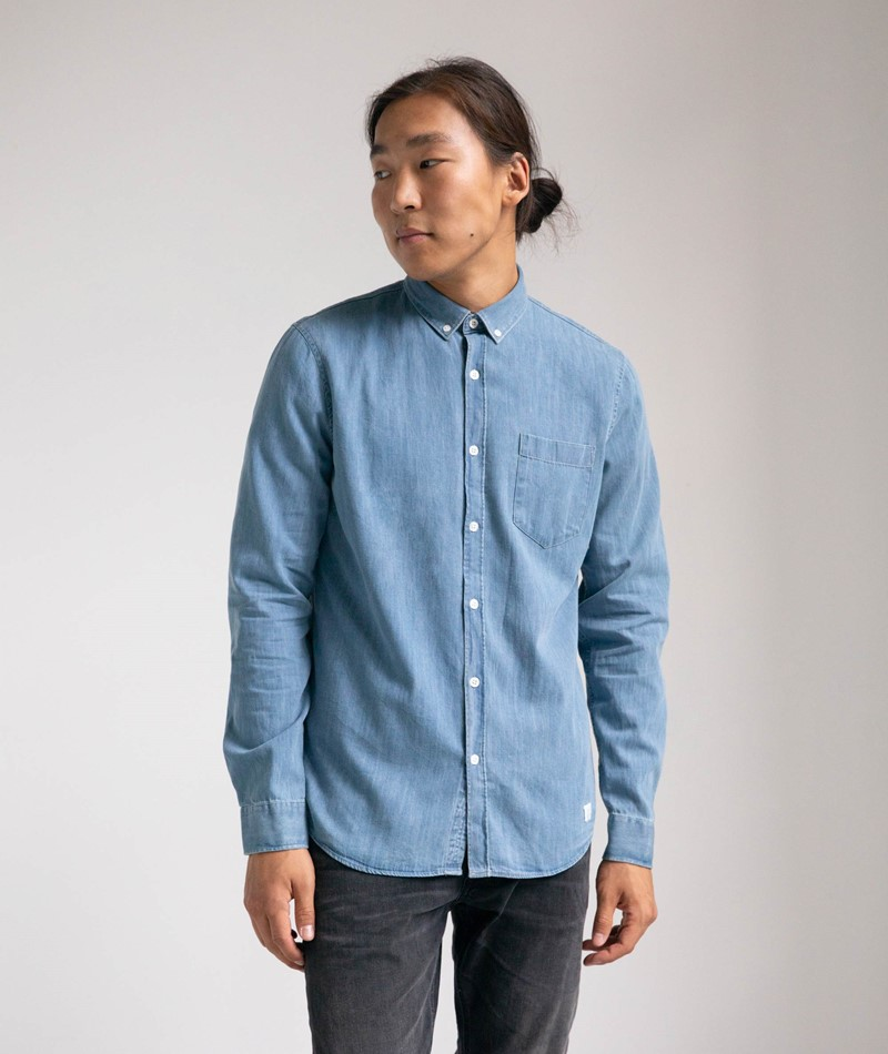 NOWADAYS Denim Button Down Hemd
