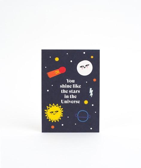 KAUF DICH GLÜCKLICH Postkarte Shine