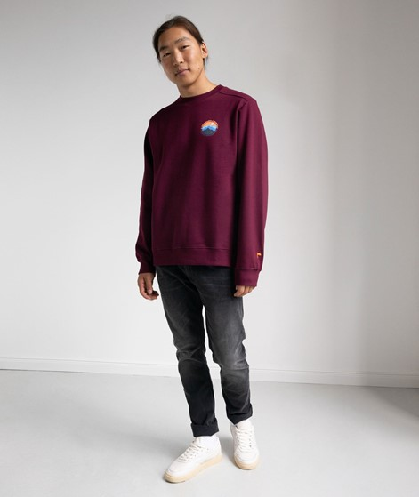 WEMOTO Mountain Crew Sweater burgundy