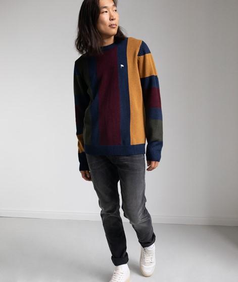 WEMOTO Benett Stripe Pullover gemustert