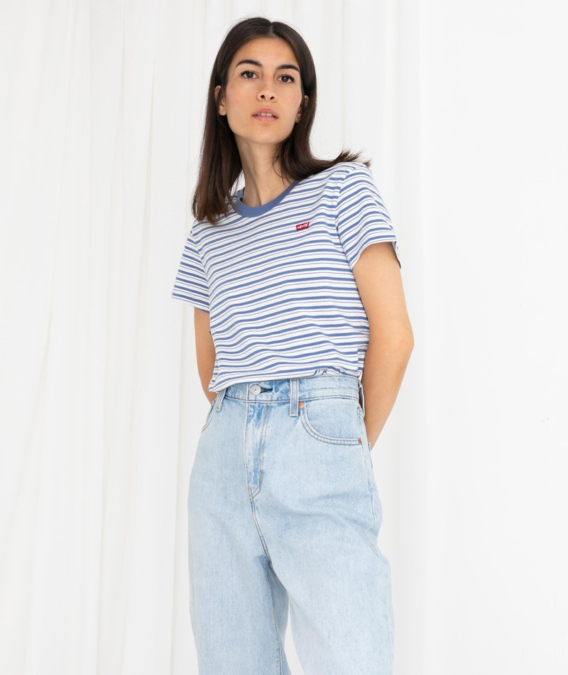 LEVIS Perfect T-Shirt blau gestreift