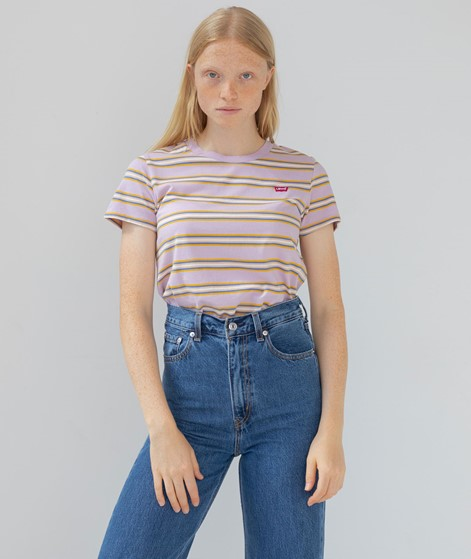 LEVIS Perfect T-Shirt rosa gestreift