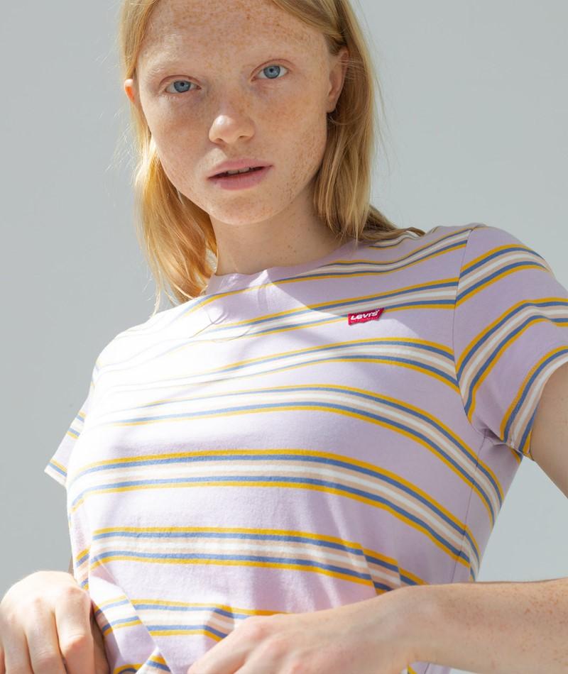 LEVIS Perfect T-Shirt rosa gestreift