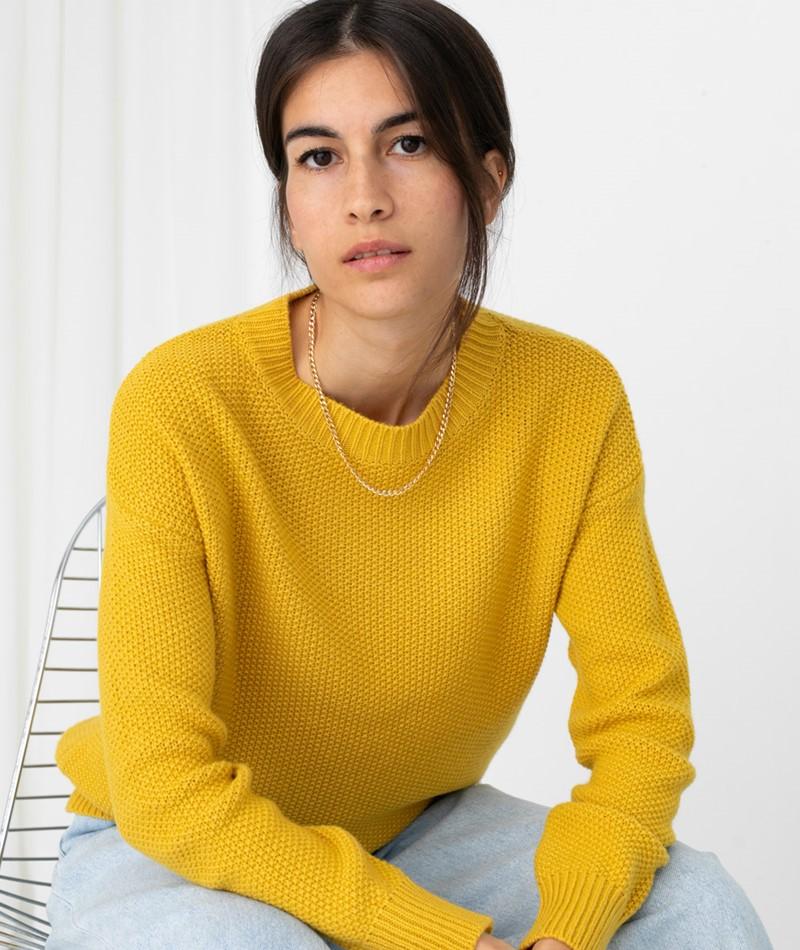 KAUF DICH GLÜCKLICH Pullover gelb