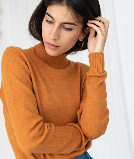 VILA VIRil Strickpullover orange