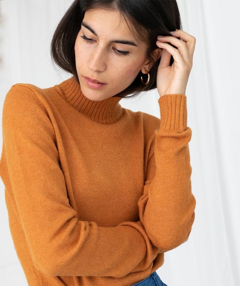 VILA VIRil Strickpullover orange
