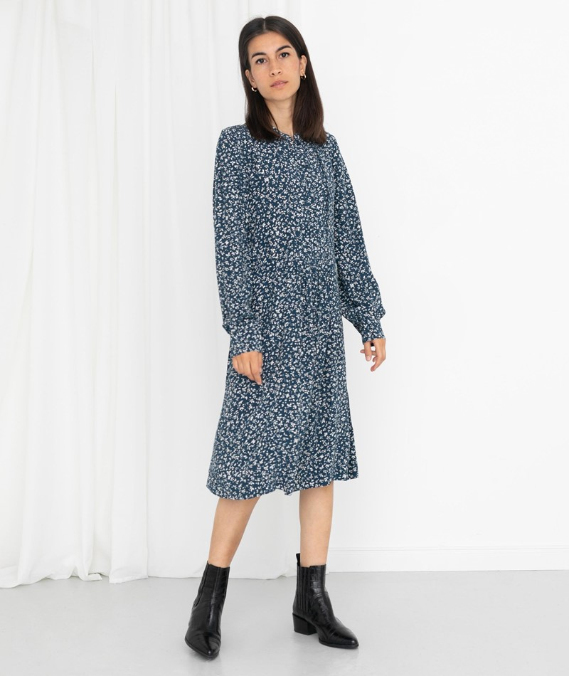 SAMSOE SAMSOE Nusa Kleid gemsuert