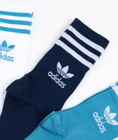 ADIDAS Mid Cut CRW Socken white/blue