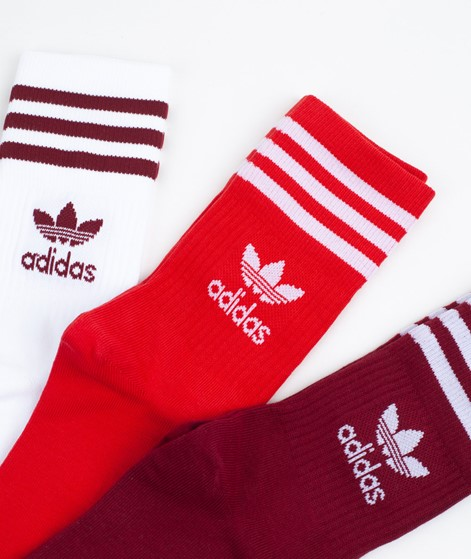 ADIDAS Mid Cut CRW Socken white/red