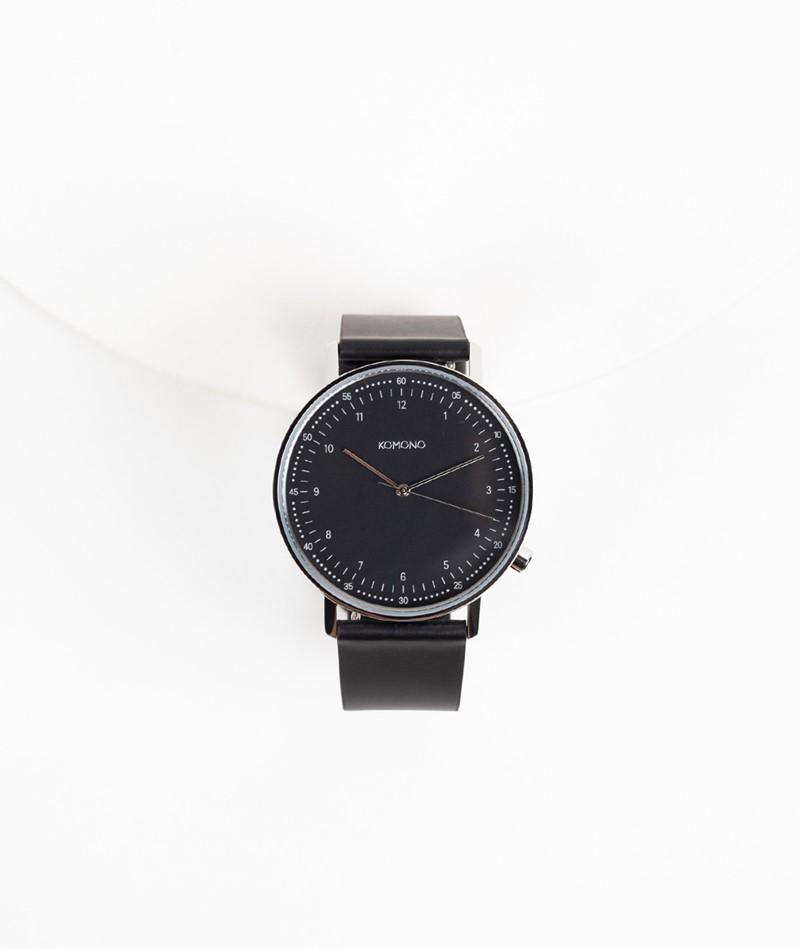 KOMONO Lewis Uhr schwarz