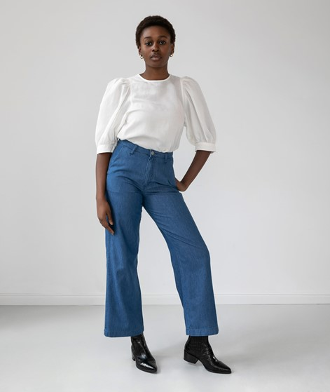 WHY7 Marin HW Wide Leg Jeans blau