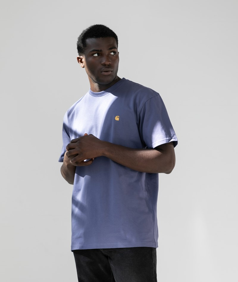 CARHARTT WIP Chase T-Shirt viola/gold