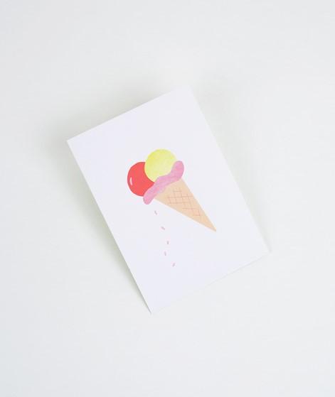 KAUF DICH GLÜCKLICH Postkarte Eis