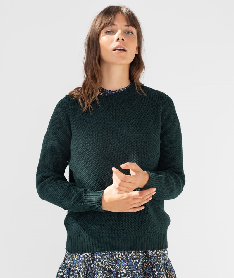 KAUF DICH GLÜCKLICH Pullover grün
