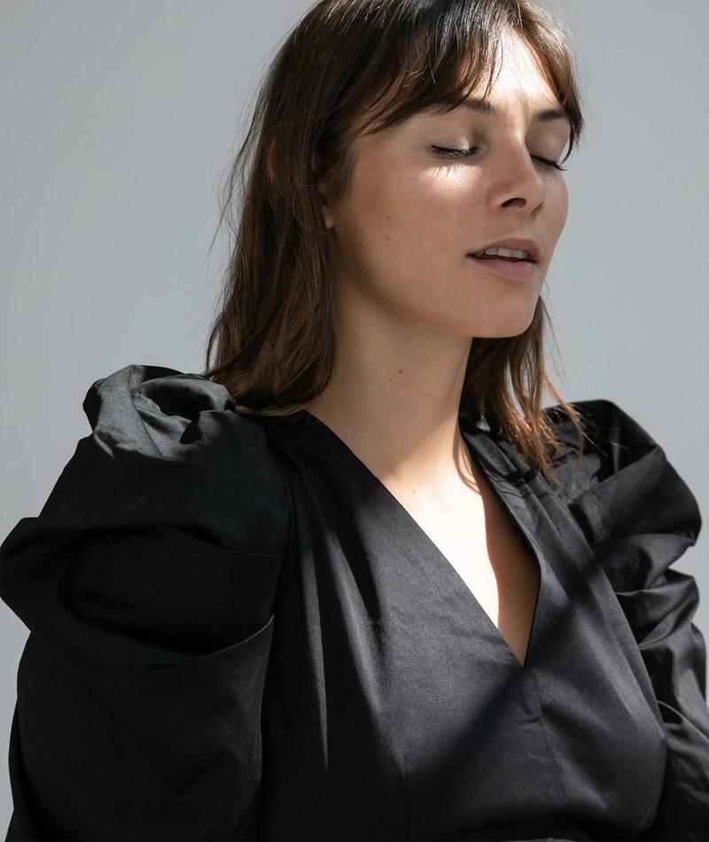 YAS YASMellen Mini Kleid schwarz