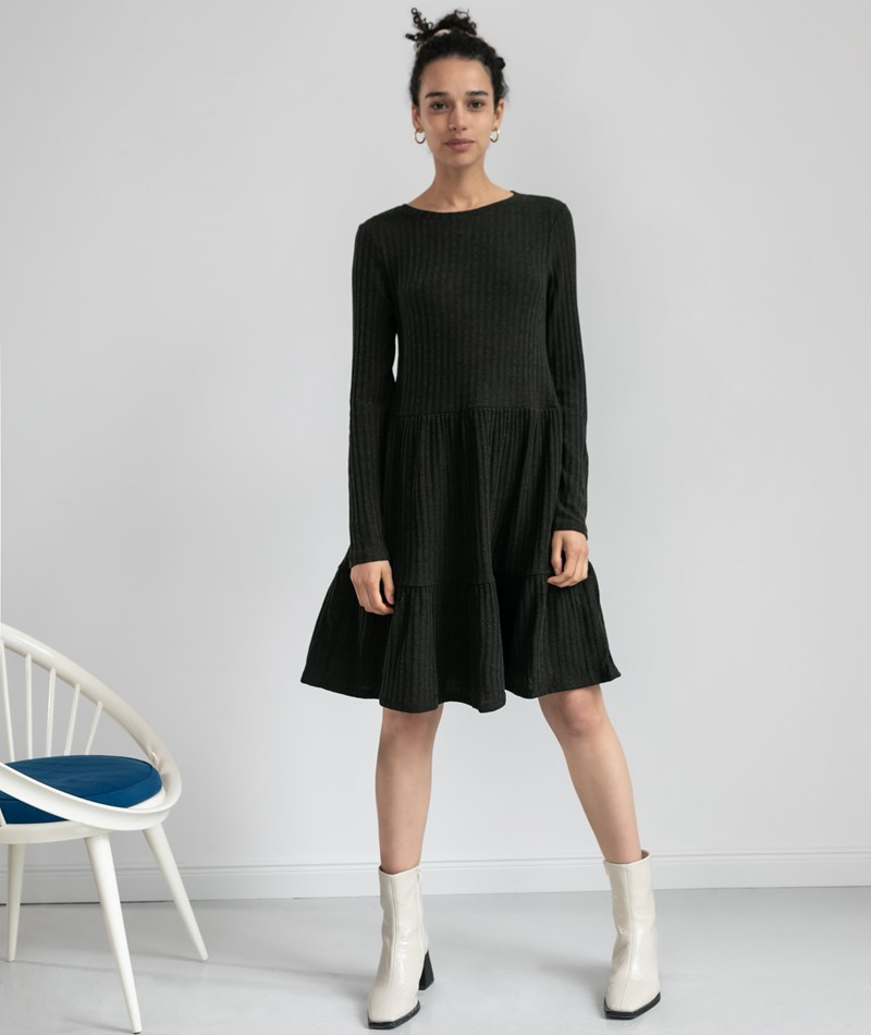 VILA VIElita L/S Kleid khaki