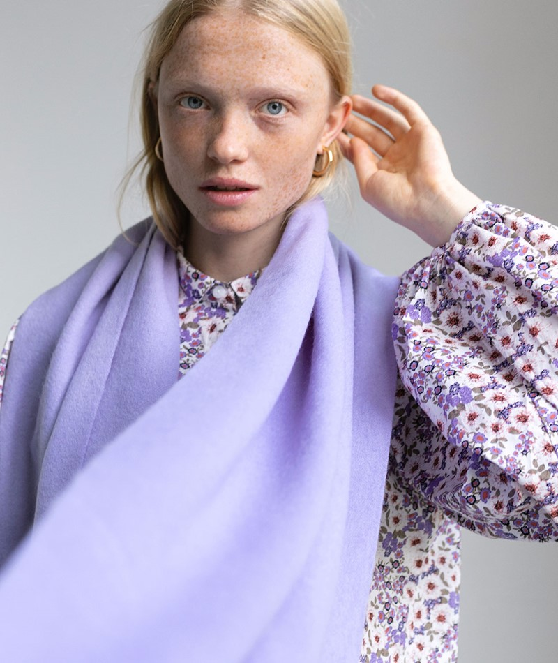SELECTED FEMME SLFTime Wool Schal rosa