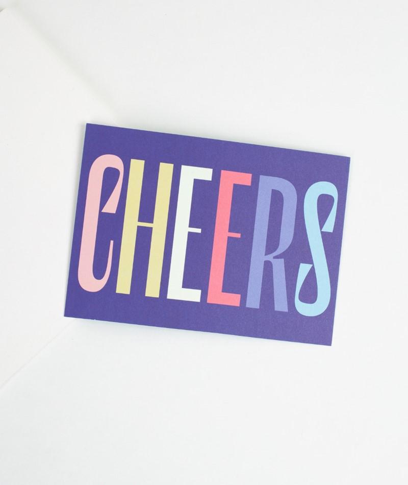 KAUF DICH GLÜCKLICH Postkarte cheers