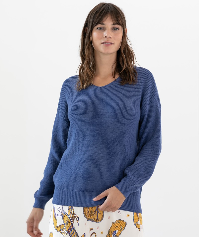 MOSS COPENHAGEN Dalina Pullover blau