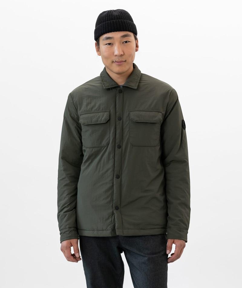 NOWADAYS Padded Shirt Jacke khaki