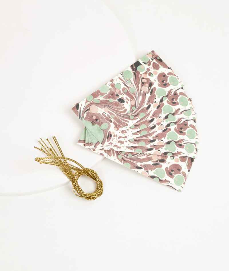 FERM LIVING Marbling Gift tags Set of 6
