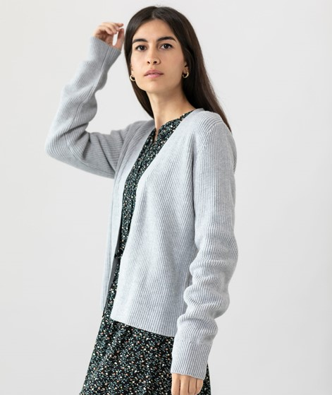 VILA VIRil L/S Open Short Cardigan grau