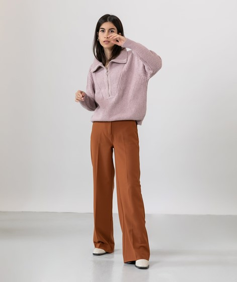 YAS YASMarilyn Zip Pullover rosa