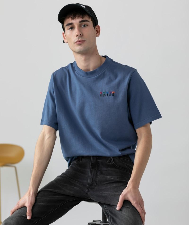 LEVIS SS Graphic Mockneck T-Shirt indigo