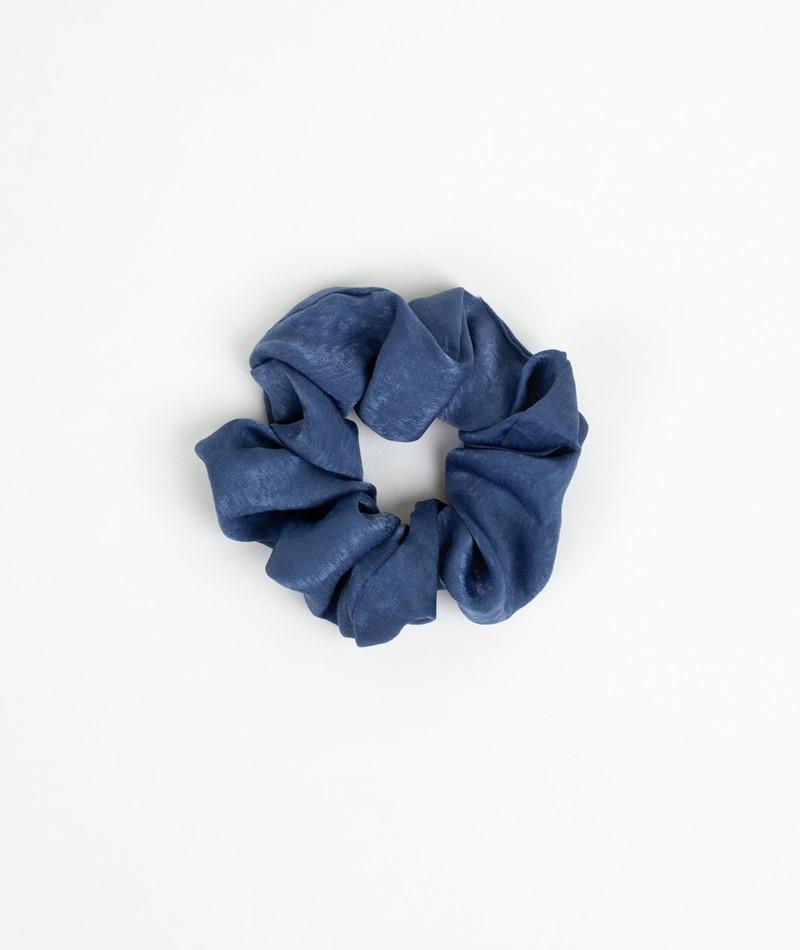 EBBA Satin Scrunchie dunkelblau